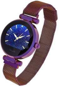 Smartwatch Garett Women Lisa kolor fioletowy stalowy
