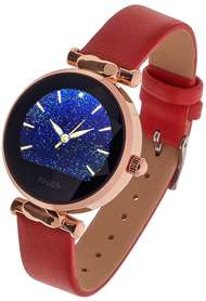 Smartwatch Garett Women Lisa kolor czerwono-złoty skórzany