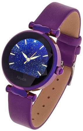 Smartwatch Garett Women Lisa kolor fioletowy skórzany