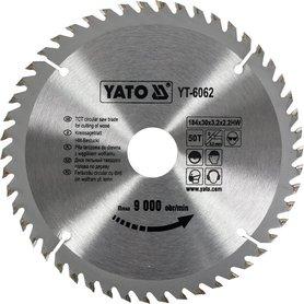 Yato YT-6062 piła tarczowa HM 184x30 mm 50 zębów