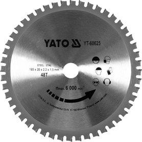 Yato YT-60625 piła HM do cięcia stali 185x20 mm 48 zębów