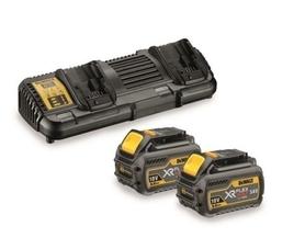DeWalt DCB132T2-QW zestaw XR ładowarka Flexvolt 18V z dwoma portami + 2 akumulatory DCB546 XR Flexvolt 18/54V w kartonie