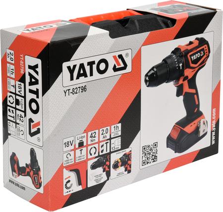 Yato YT-82796 wiertarko-wkrętarka udarowa 18V 1x2,0Ah 42Nm w walizce