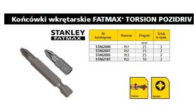 STANLEY KOŃCÓWKA PZ1 x 25mm /2szt.