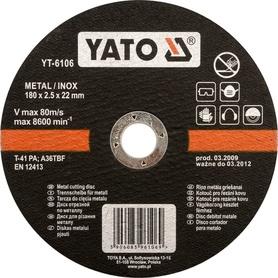 YATO TARCZA DO METALU INOX 125x1,2x22mm   6103