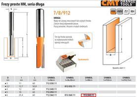 CMT FREZ PROSTY DŁUGI HM D= 6 I=25,4 L=60 S=8