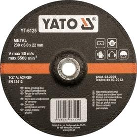 Yato YT-6124 tarcza do szlifowania metalu 125x6,0x22,2 mm