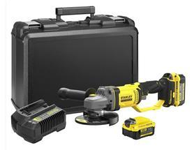 Stanley SFMCG400M2K-QW akumulatorowa szlifierka kątowa 125 mm 18V V20 2x4,0Ah w walizce