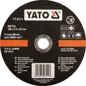 YATO TARCZA DO CIĘCIA METALU 125x1,2x22mm   5923
