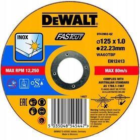 DEWALT TARCZA METAL 125x1,0mm