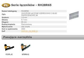 BOSTITCH GWOŹDZIE RH 2,8 x 65mm 21` RING 2000 szt.