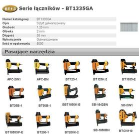 BOSTITCH SZTYFTY BT13 35mm 5000 szt.