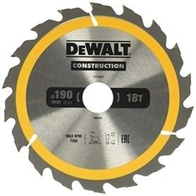 DeWalt DT1943-QZ piła tarczowa do cięcia drewna 190x30 mm 18 zębów