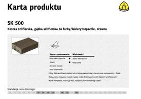 KLINGSPOR KOSTKA SZLIFIERSKA 100x70x25mm P180 SK500