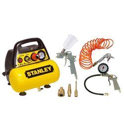Stanley C6BB304STP608 sprężarka bezolejowa 6l 8 bar 1,1kW z zestawem akcesoriów