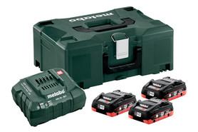 Metabo zestaw akumulatorów 18V 4x4,0Ah LiHD + ładowarka w walizce Metaloc 685133000