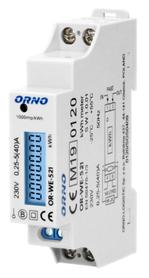 ORNO 1-fazowy licznik energii elektrycznej, 40A, MID, wyjście impulsowe, podświetlenie, 1 moduł