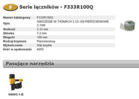 BOSTITCH F333R100Q GWOŹDZIE F 3,33x100 mm RING 4050 szt.