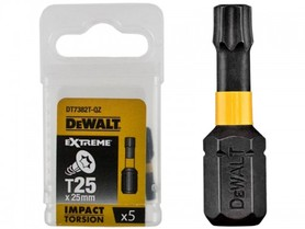 DEWALT KOŃCÓWKA UDAROWA T25x25 /5szt. EXTREME IMPACT TORSION